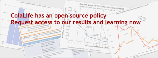 A reminder of our open source approach – get free access to our trial results and associated learning